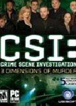 犯罪现场调查谋杀的三维