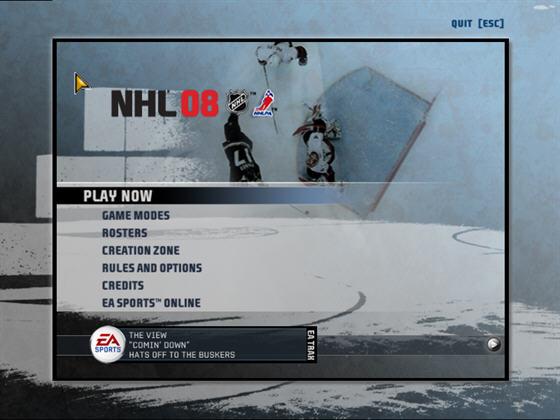 EA冰球2008(NHL 08) 英文免安�b版截�D1