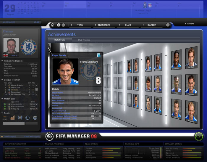 FIFA足球经理2008截图1