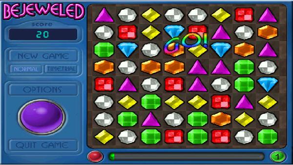 宝石迷阵1 幻想游戏(bejeweled) 英文免安装版截图1