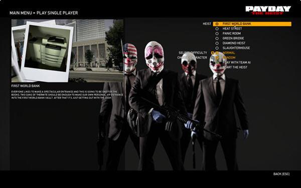收获日:掠夺(Payday: The Heist)完整硬盘版截图1