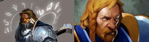 《DOTA2》原稿与成品后英雄头像对比