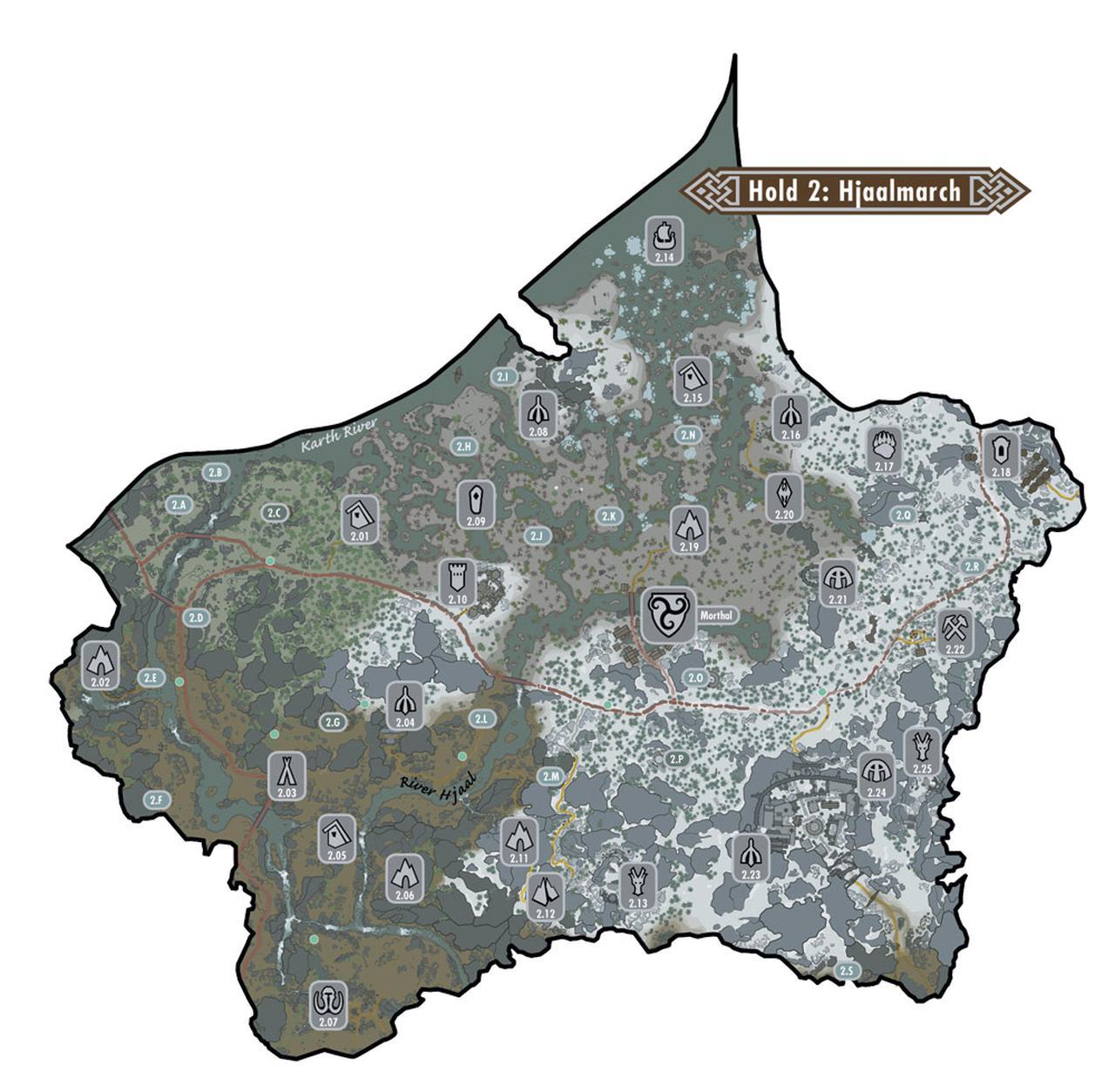 上古卷轴5世界地图希雅陲领其它地点