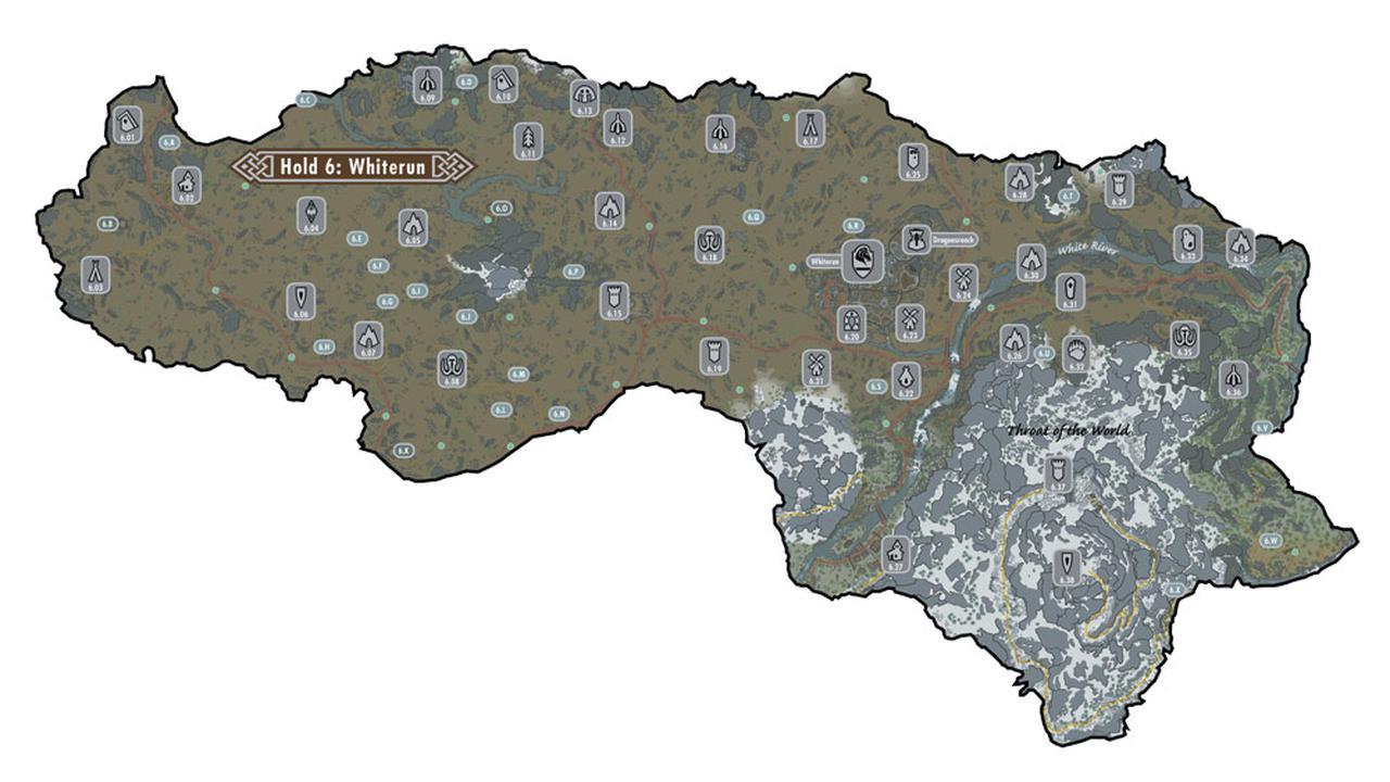 上古卷轴5世界地图皖润领其他地区