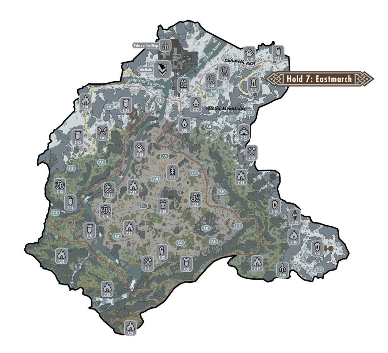 上古卷轴5世界地图东陲领其他地点