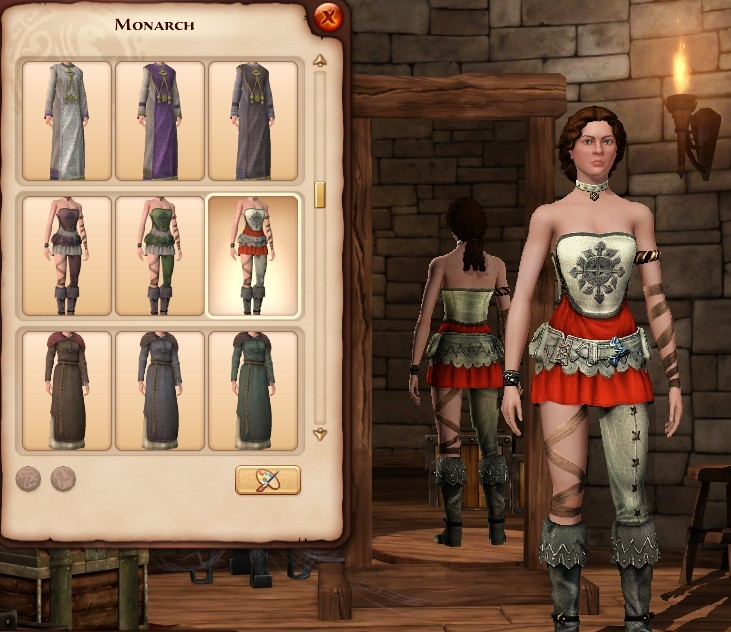 《模拟人生:中世纪》跨职业服装发型解锁MOD