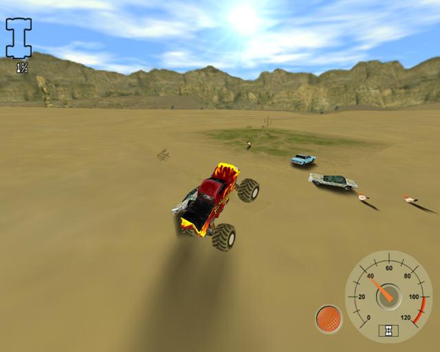 大脚车争霸(狂野的沙漠卡车竞技)截图0