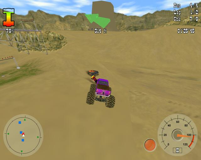 大脚车争霸(狂野的沙漠卡车竞技)截图2