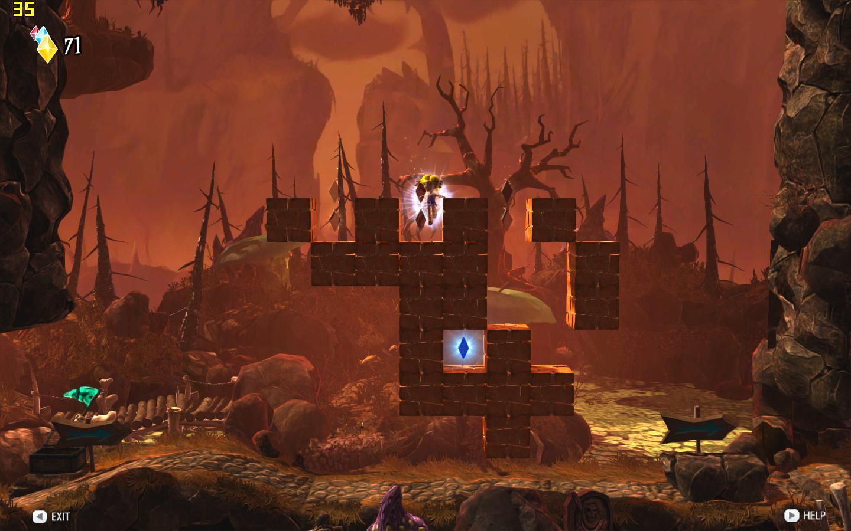 玩家可以选择在森林场景下冲撞小动物
