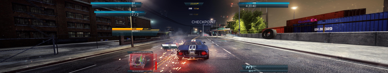 《极品飞车17》5760x1080高分辨率游戏截图