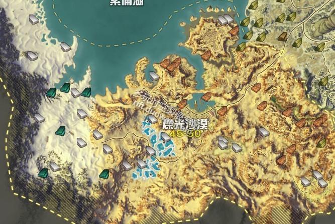 时空裂痕木材分布地图点