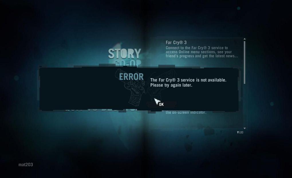 《孤岛惊魂3》1.03版本无限logging in的解决方法
