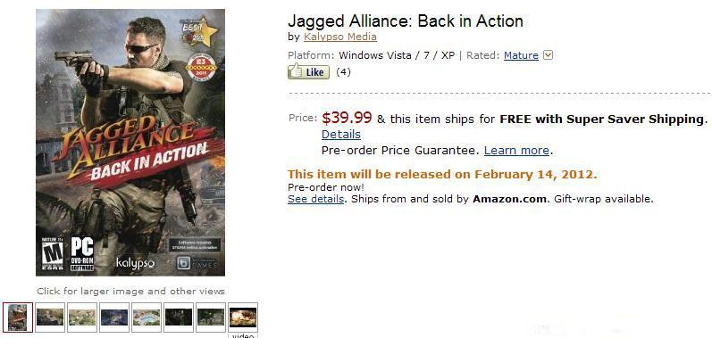 《铁血联盟:卷土重来》2月14日发售 预订有优惠