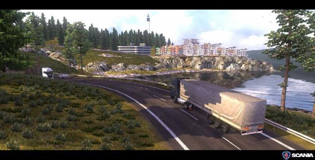 斯堪尼亚重卡驾驶模拟截图3