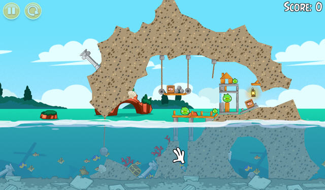 愤怒的小鸟:猪之夏日海洋中文版截图1