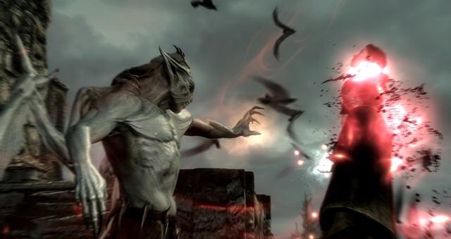 上古卷轴5黎明守卫dlc来临 吸血鬼战斗打响