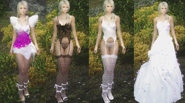 上古卷轴5婚纱丝袜三套服装MOD截图0