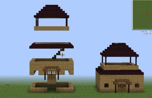 我的世界房子图片_我的世界最简单房子制作方法