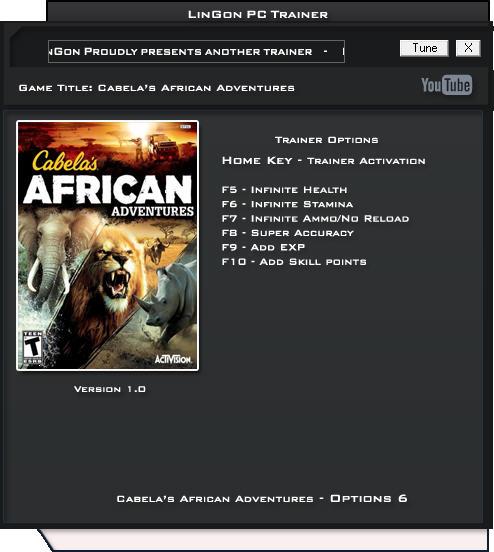 坎贝拉的非洲冒险修改器+6