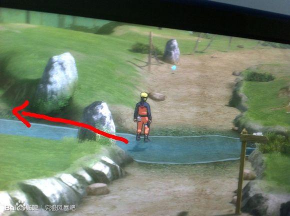 地图 火影忍者 永恒/到达后的下个小地图走到这里有个不明显的岔路,左拐走水路。