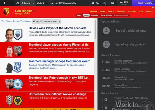 足球经理2014中文汉化版截图4