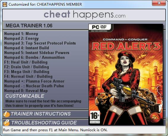 命令与征服:红色警戒3修改器+10