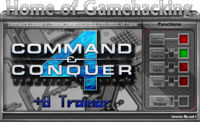 命令与征服4:泰伯利亚的黄昏修改器+8