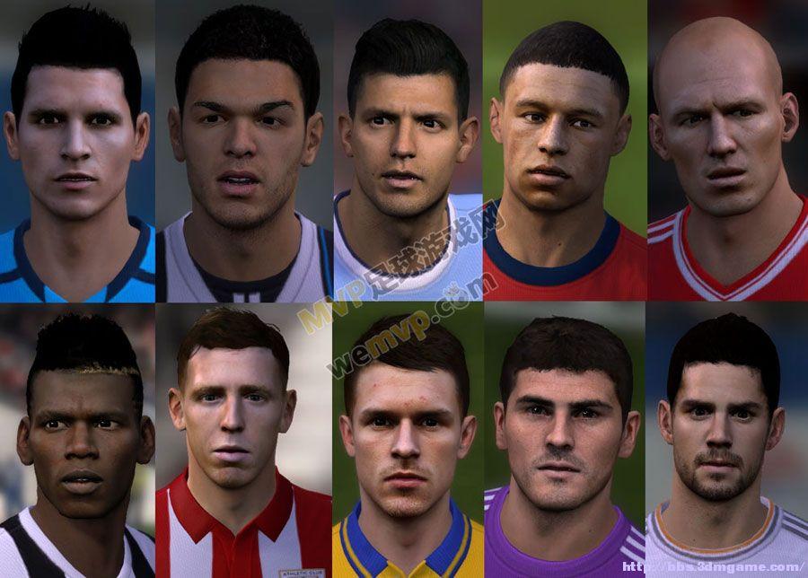 FIFA14伊斯科等十人脸型包