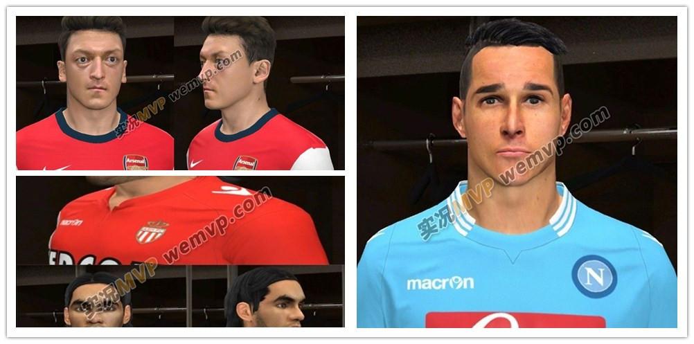 实况足球2014法尔考等三人脸型包