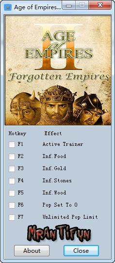 帝国时代2高清版修改器+6
