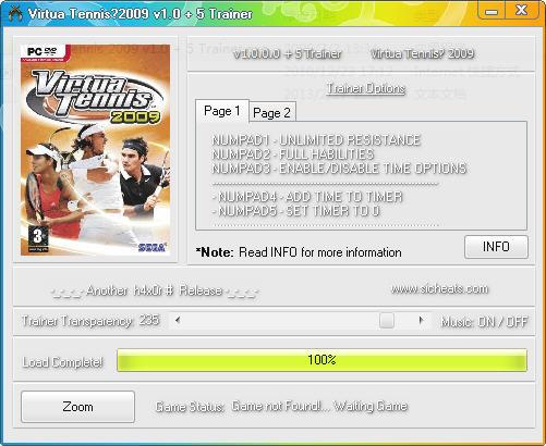 虚拟网球2009修改器+7
