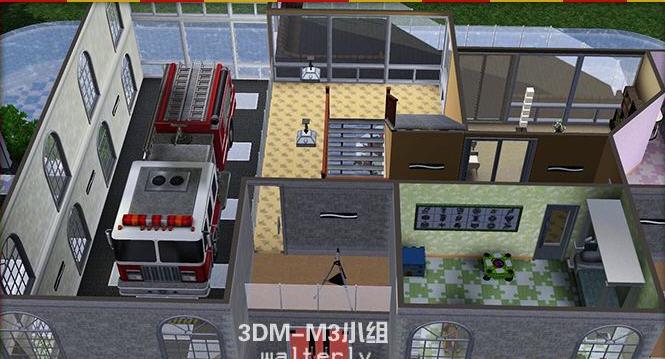 模拟人生3消防员之家MOD