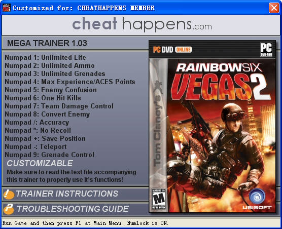 《彩虹六号:维加斯2》修改器截图0