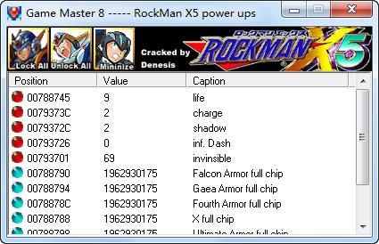 洛克人x5修改器