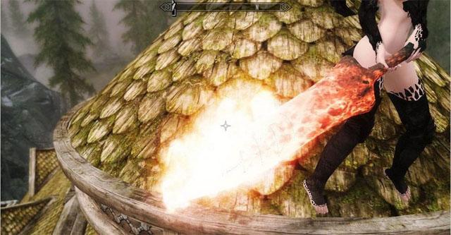 《上古卷轴5:天际》鬼泣4火牛武器MOD