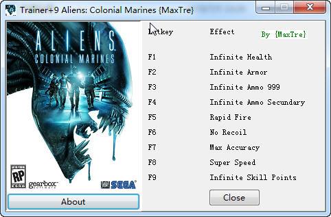 《异形:殖民军》修改器+9