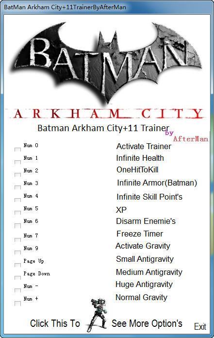 《蝙蝠侠:阿甘之城》修改器+11 v1.0-v1.02