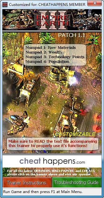 《地球帝国3》修改器+2