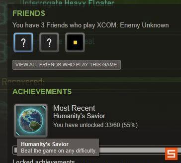 《幽浮:未知敌人》普通难度最后任务前存档