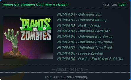 《植物大战僵尸》修改器+9