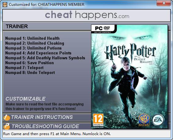 《哈利波特与死亡圣器1》修改器+6
