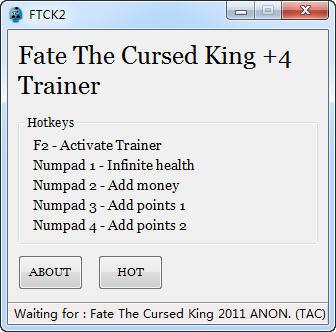 《黑暗史诗:被诅咒的国王》修改器+4