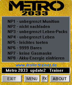 《地铁2033》修改器+8