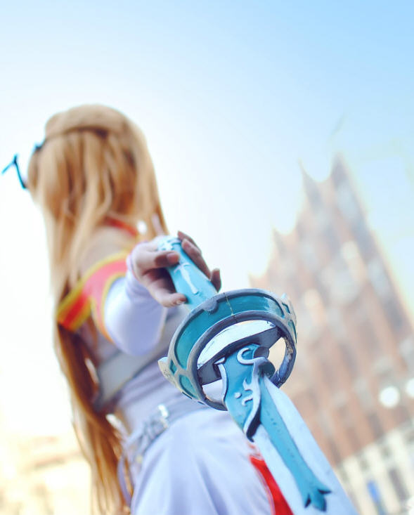 刀剑神域亚丝娜COS合集 金发少女超可爱