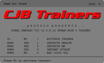 《最终幻想7重制版》修改器+4