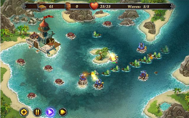 游戏经典小岛俯视图
