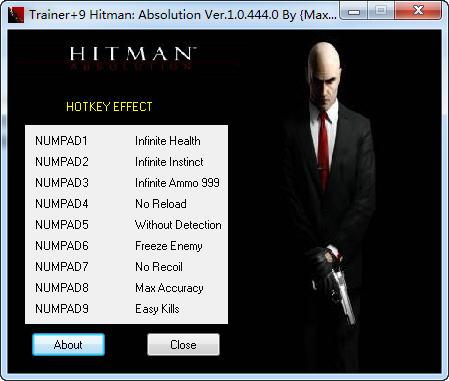 《杀手5:赦免》修改器+9