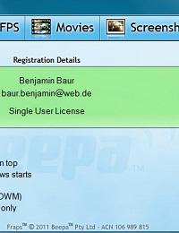 Fraps注册工具(知名游戏截图+录像+FPS工具)