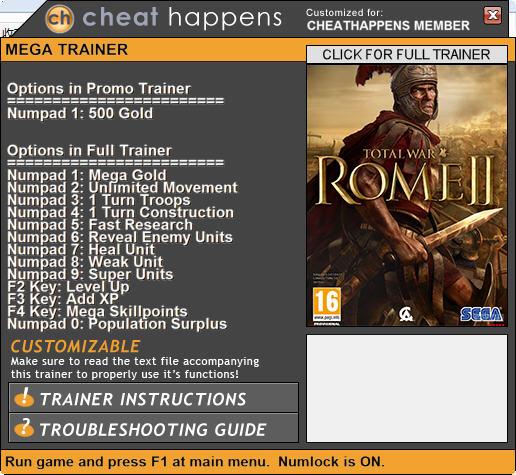罗马2:全面战争金钱修改器+1