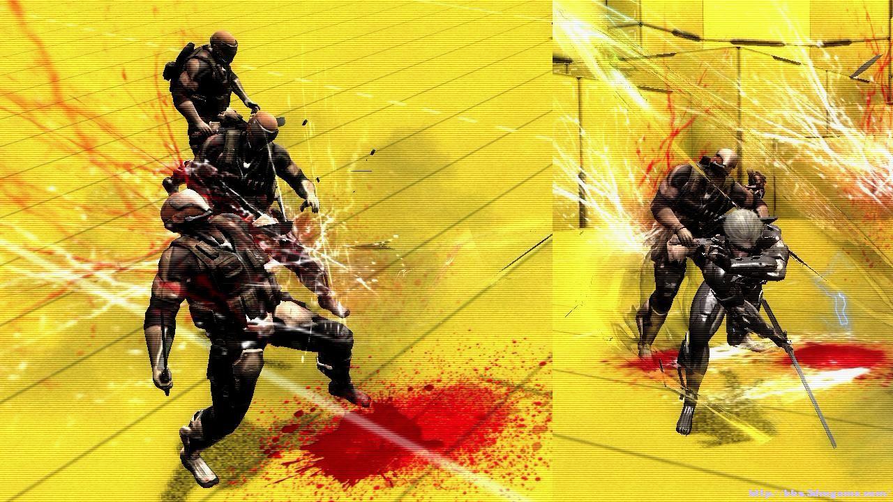 合金装备崛起复仇血液及斩击效果替换MOD